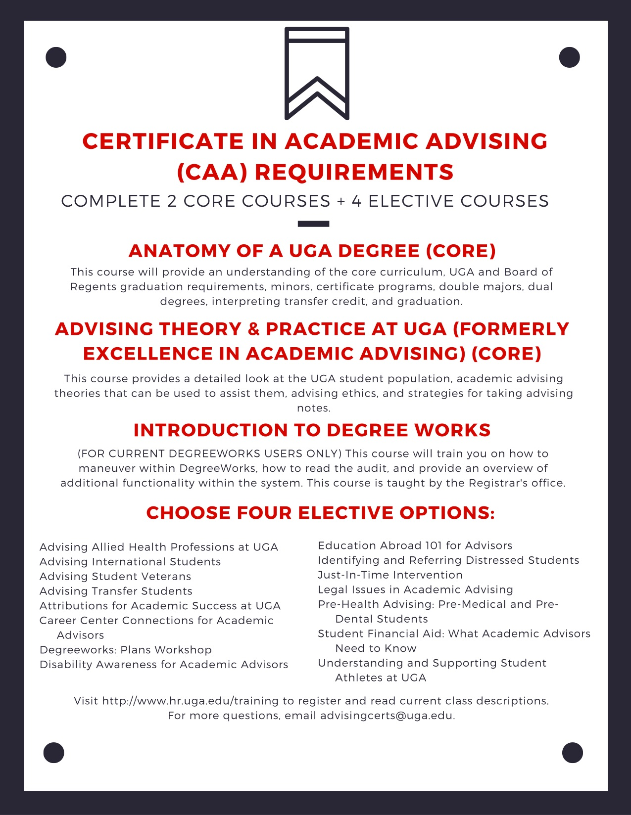 Certificate In Academic Advising Certificates For Advisors Home
